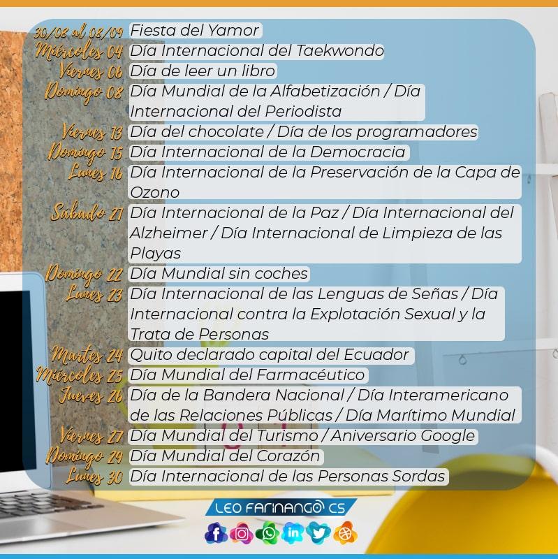 Festividades-Septiembre-Efemèrides-Leo-FarinangoCS-Community-Manager-Quito